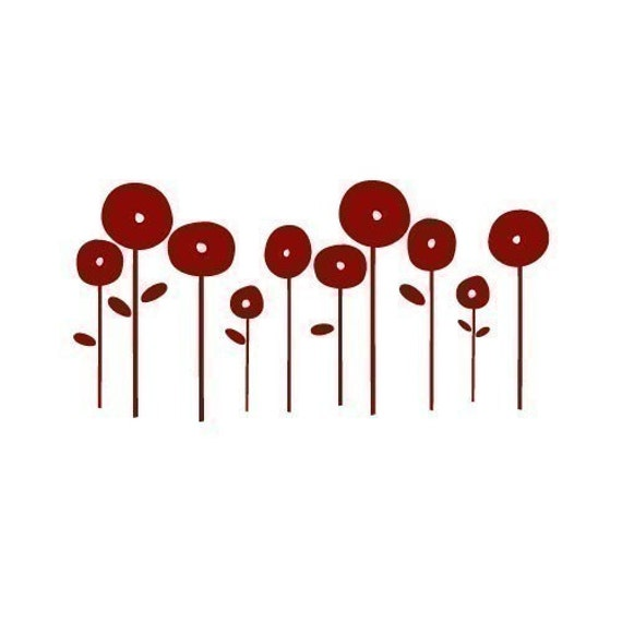 Small Poppies Decal