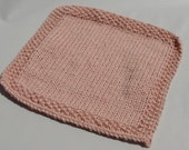 Hand-knit light pink washcloths, 4 pack