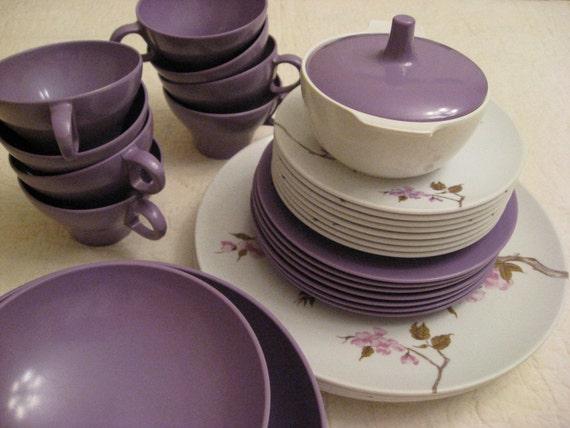 Vintage Melmac Dinnerware Set Melamine Texas Ware 35