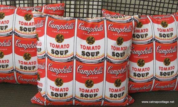 Tomato Soup Cans Pillow Cover - Andy Warhol - Pop Art