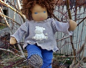 RESERVED rainbow haired custom 10 inch waldorf boy doll