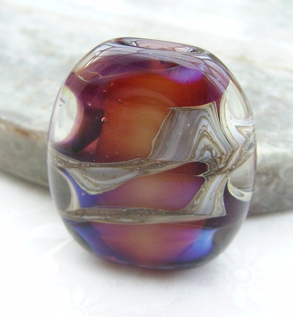 Lampwork Glass Focal Bead Mysterious Chamber