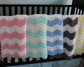 Chevron Baby Blanket - Custom Colors