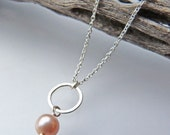 Hammered Circle and Pearl