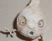 wall GHOST Ooak  spun cotton art doll