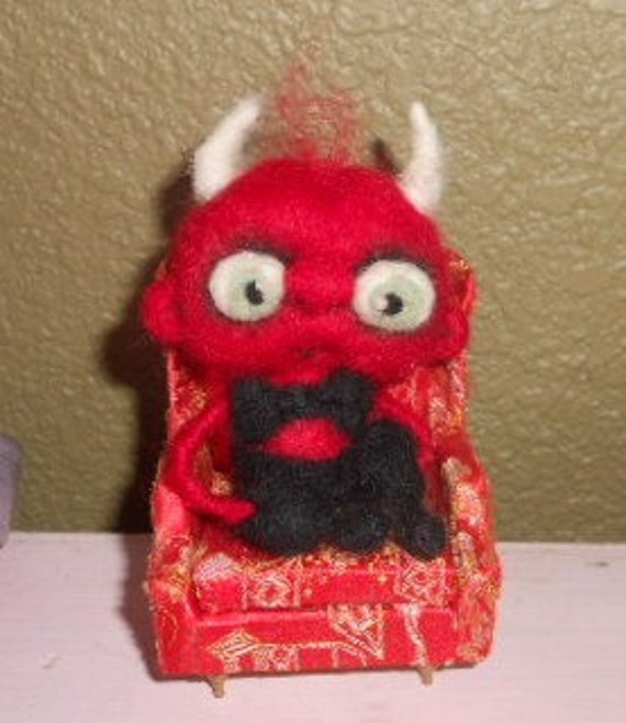 JUST Chillin  Ooak needle felted  VDEVIL art doll