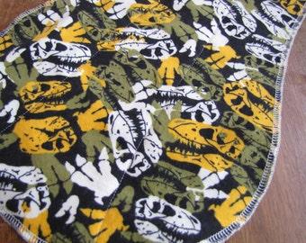 Dinosaur Fossils Burp Cloth