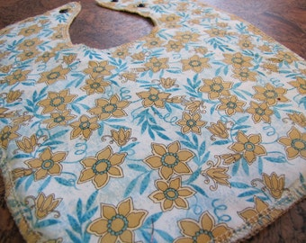 Floral Blues Baby and Toddler Bib