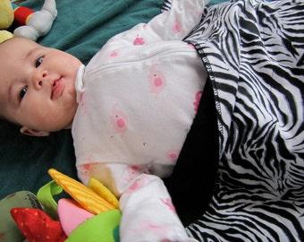 Zebra Print Burp Cloth