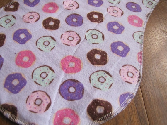 Mmmm Purple Donuts Burp Cloth