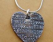 Haiti Necklace-Heart for Haiti