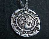 Earth Necklace-I would go to the ends of the Earth for you.