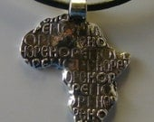 Africa-Hope for Children on Leather Necklace