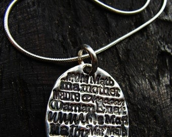 Mother in Many languages necklace