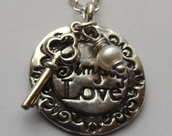 "The Key  is to""Simply Love"" necklace-Adoption Fundraiser"