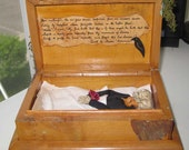AlTerEd aRt TOmB OF THE rAvEn EdGaR A. pOe OOAK
