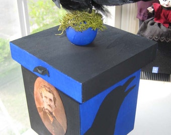 AlTerEd aRt ThE RaVeN TriNkEt bOx EdGaR A. pOe OOAK