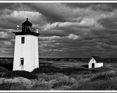 Wood End Lighthouse, Black and White Photograph, Provincetown, Massachusetts