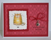A Fluffy Little Gift from Kitty Handmade Greeting Card