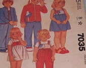 McCalls Pattern 7035 Size 4 Child Bust 23 Vintage 80s Uncut Toddler - Etsy for Autism -