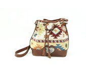 vintage southwestern bucket bag