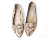 size 8.5 genuine SNAKESKIN loafers 39