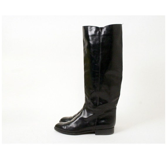 size 9 black leather charles david boots 40