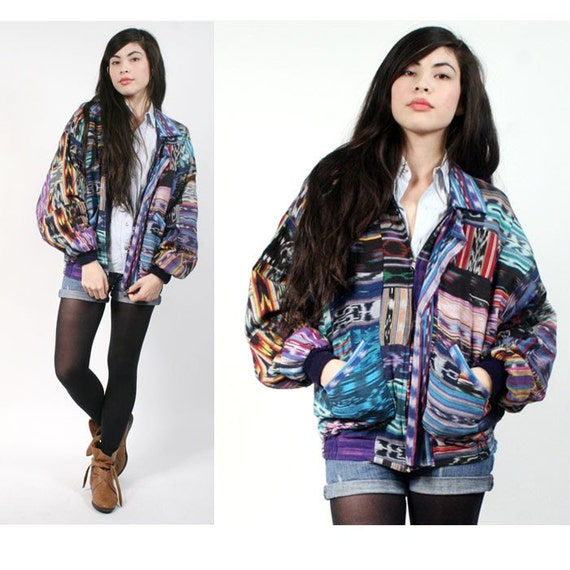 vintage southwestern cotton jacket L