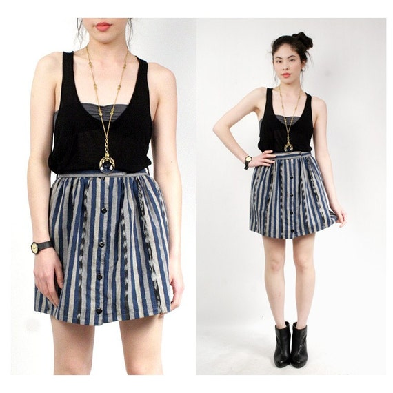 vintage IKAT skirt M L