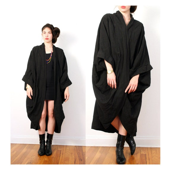 vintage 80s slouchy cocoon jacket