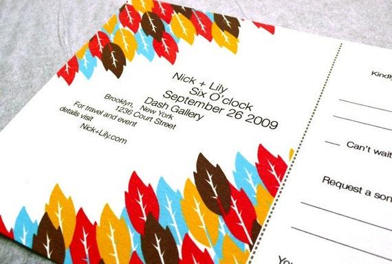 Environmentally Friendly Wedding Invitations: Eco-friendly Wedding Invitations Modern Leaves