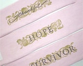 Eco Friendly Wrist Cuff Wrist Wallet for Runners - Set of 3 - Breast Cancer Awareness