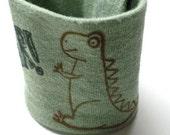 Kid Size Wrist Cuff Wallet for lunch money - Dinosaur (Eco-friendly)