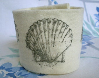Wrist Cuff Wallet for Runners - Wrist Tattoo Cover - Sea Shell - Eco-Friendly