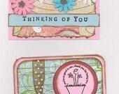 Thinking of You handmade mini cards
