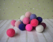 Handmade Felted Beads - Pinks - Set of 20