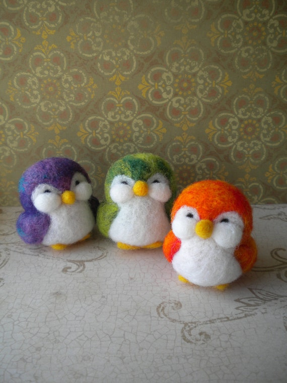 RESERVED for finntastic2006 -   Felted Penguins - Set of Two