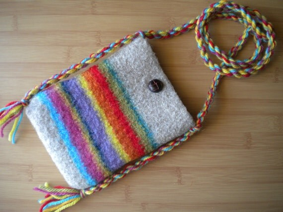Felted Wool Shoulder Pouch
