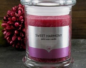 Sweet Harmony - Highly fragrant palm wax candles - rose orange musk