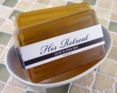 His Retreat - Olive Oil and Shea Butter soap - lavender sandalwood leather accords
