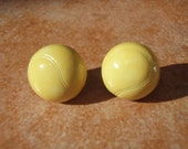 YELLOW TENNIS BALLS Studs Earrings - - Nickel Free and Gift Packaged