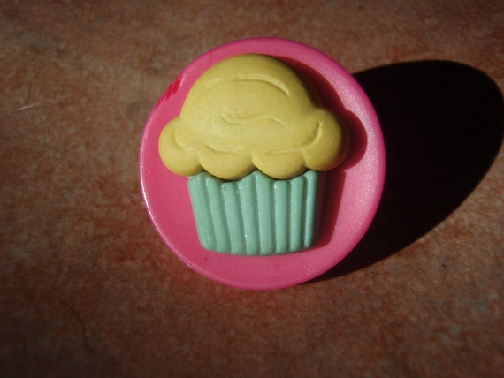 Retro Collection- Pink Cupcake Pin or Brooch