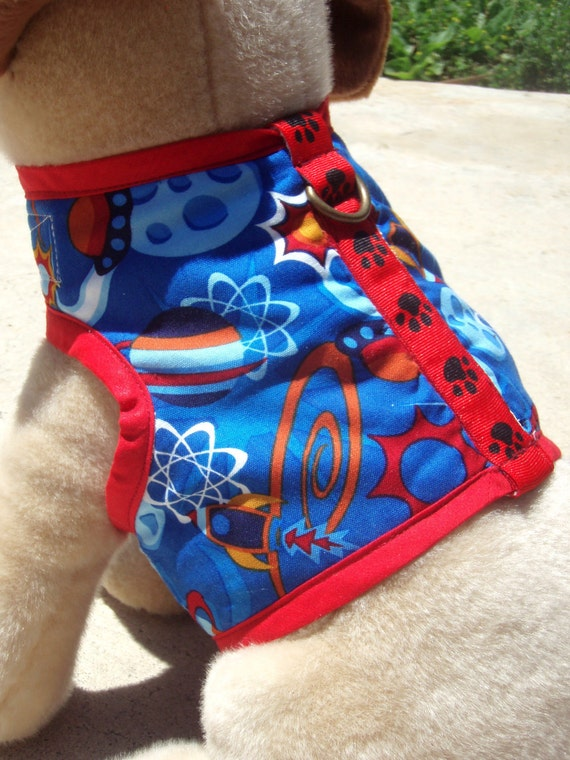 Blast Off - Organic Cotton Super Soft Harness Vest - Fully Lined - Choose Your Size