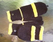PITTSBURGH Black And Gold Convertible Mittens Featured In Pittsburgh Magazine