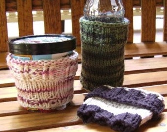 PATTERN Coffee/Ice Cream Cozy Knit