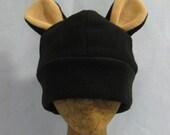 Fuzzy Black Bear Hat