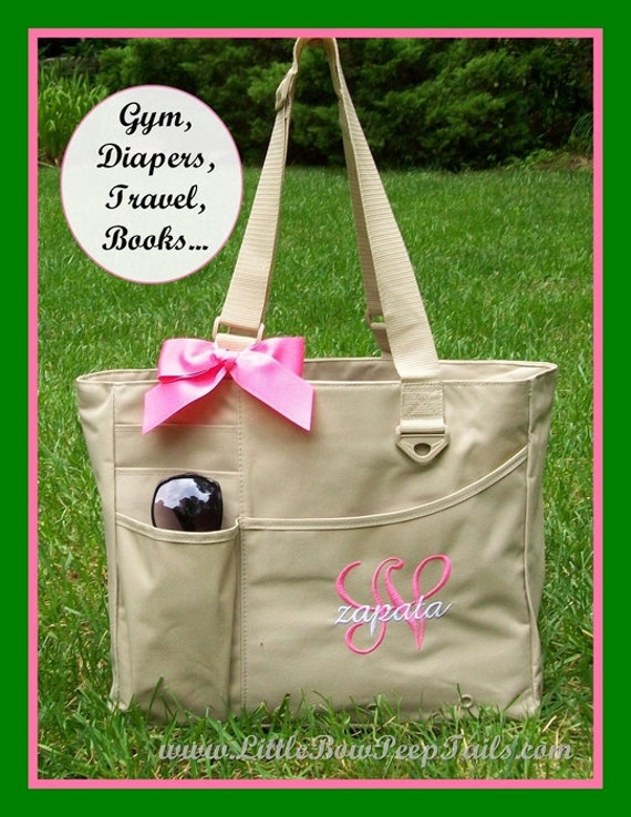 initial and name teacher tote monogrammed briefcase. Black Bedroom Furniture Sets. Home Design Ideas
