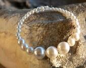 SALE White Faux Pearl Vintage Bead Bracelet 14.99 will be 16.99 SALE