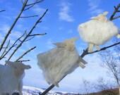 felt flying sheep spring lambs clouds garland bunting decoration