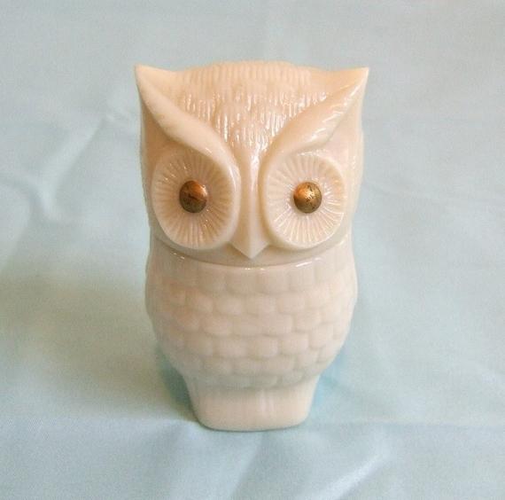 Salt Lamps Inverness : Vintage Avon Moonwind Cream Sachet Glass Owl Jar Bottle